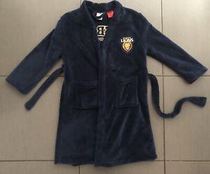 AFL Brisbane Lions Kids Bathrobe Dressing Gown - Size 6-8