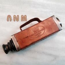 Brass Telescope Kelvin & Hughes London 1917 Squire Leather Covered