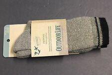 1 PAIRS MEN'S OUTDOORLIFE Midweight Socks SIZE 10-13 BLACCREW SOFT Fit shoe 6-12