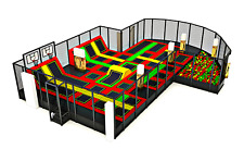 3,500 sqft Commercial Trampoline Park Dodgeball Climb Gym Inflatable We Finance