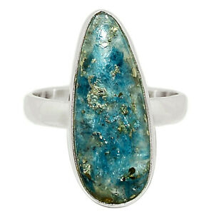Rare Pyrite In Kyanite 925 Sterling Silver Ring Jewelry s.9 BR82307