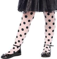 Morris Costumes Girls New Sheer Polka Dot Child Tights Black White 1-3. UA4914SM
