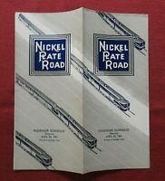 "1961 NEW YORK CHICAGO ST. LOUIS ""NICKEL PLATE ROAD"" RAILROAD TIMETABLE BROCHURE"
