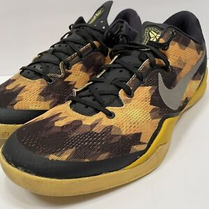 Nike Zoom Kobe 8 VIII Sulfur Electric Black Yellow Silver Grey Sz 13 555035-001