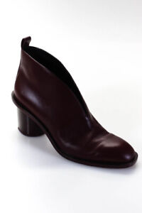 Celine Womens Leather High Heel Ankle BootsRed Size 9.5