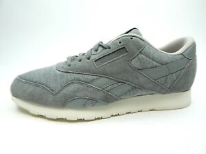 REEBOK MEN'S CL NYLON J FLAT GREY AR0897 MEN SHOES SIZE 9.5