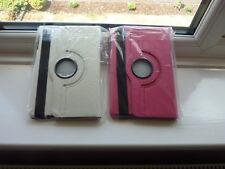 PAIR FLIP iPad MINI 360 CASE COVERS for IPAD 2/3 1x Dark Pink 1x White