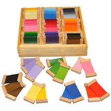 Montessori Materials Learning Colour Color Tablets Set 3 Wooden Box Sensorial