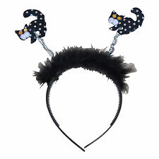 Halloween Head Band Hair Band deeley Boppers STREGHE GATTI Fronzoli FANCY DRESS