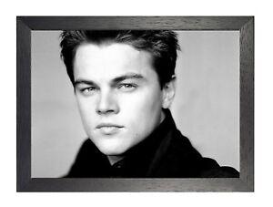 Leonardo Dicaprio 1 American Actor Poster Film Star Sexy Handsome Black White