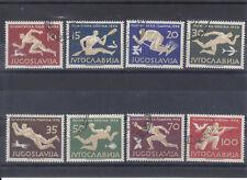OLYMPIC 1956 YUGOSLAVIA STAMP FULL SET USED