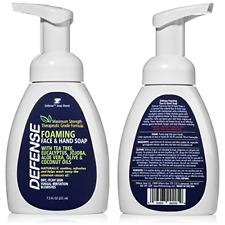 DEFENSE | 2 PACK | Foaming Face & Hand Soap 7.5 Oz Tea Tree Eucalyptus Aloe Vera