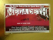 Megadeth Flotsam and Jetsam London UK 1987  CASSETTE TAPE
