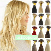 1g/s Nano Beads Nano Ring I Tip Double Drawn Real Remy Human Hair Extensions 8A