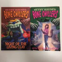 Lot of 2 Bone Chillers books by Betsy Haynes Vintage Paperback Pet Shop Brew
