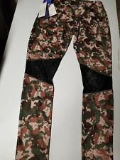 Women's Camo 2in 1 Reversible Workout pants By Miracle Suit nwt $65