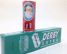 Derby Extra Platinum Coated Double Edge Razor Blades 100 piece Barber +arko soap