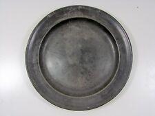 Ancienne Assiette Etain, Décor Blason Jacques Coeur, Charles VII, D - 29,5 cm