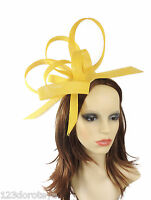Yellow Fascinator Hat For Weddings/Ascot/Proms With Headband H1