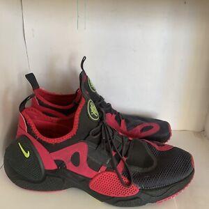 Nike Huarache Grey/Pink-Volt C19870-001 Size 10.5