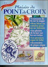PLAISIRS DU POINT DE CROIX N°34 LIS / ROSE BLEUE  / ACCESSOIRES PIQUE-NIQUE