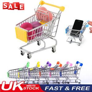 Children's Mini Metal Shopping Trolley & Basket Pretend Role Play Kids Toy UK