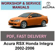 PDF on CD Acuar RSX 2002-06 Factory Service Manual