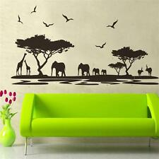 black safari animal wall stickers for kids rooms elephant decoration decals
