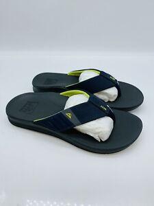 REEF Men's Ortho-Bounce Slide Sandals Navy / Yellow  US 7M / EUR 39     #P-14