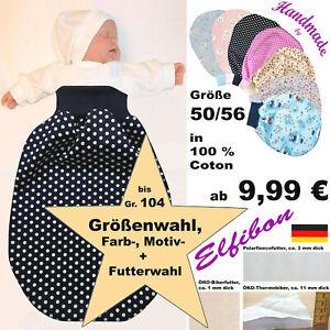ELFIBON Schafe+A. ÖKO Pucksack Gr 50-104 Baby Schlafsack Swaddle Sommer + Winter