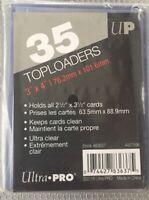 "Ultra PRO 3"" x 4"" inch Regular Toploader - 35  Pack Ultra Clear 76.2mm*101.6mm"