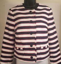 NEW Banana Republic Women's Striped Blazer Jacket Sz 6 Red White Blue NWT