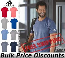 Adidas Mens Blank Short Sleeve Polyester Sport T-Shirt A376 up to 4XL