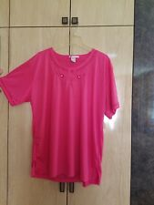 Grip Collection Womens Pink Floral Shirt Top Blouse Size 2Xl