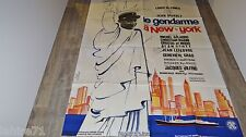 louis de funes LE GENDARME A NEW- YORK  !  affiche cinema