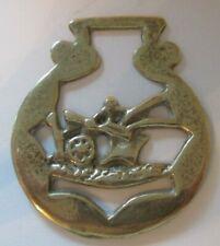 Vintage Horse Brass. Plough design