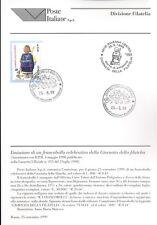 ITALIA 1999 GIORNATA DELLA FILATELIA  BOLLETTINO COMPLETO DI FRANCOBOLLI FDC