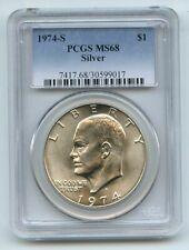 1974 S $1 Silver Ike Eisenhower Dollar PCGS MS68