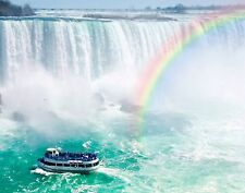 Wentworth Rainbow & Tourist Boat Niagara Falls 40 Piece Mini Wood Jigsaw Puzzle
