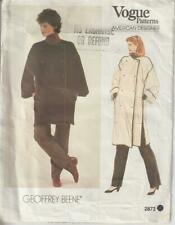 OOP Vogue Sewing Pattern 2873 Designer Goeffrey Beene Coat Misses Size 12 14 MED