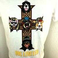Dog Limited Mens Small T Shirt New With Tags Spell Out Celtic Cross Dogs w/Hats
