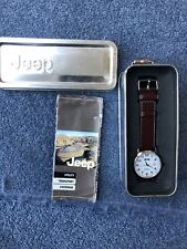 Mens Jeep Watch With White Dial Brand New In Original Tin Box With Paperwork