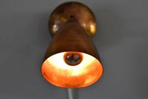 Midcentury Messing Wandleuchte brass wall lamp scandinavian metal light