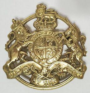 Vintage 1953 VA Metalcrafters Kings Coat of Arms Brass Trivet CW 10-17 Unicorn