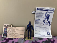 GI Joe 1984 Hooded Cobra Commander Complete