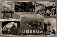 Lindau im Bodensee Mehrbildkarte 1960 Spielbank Rathaus Diebsturm Hauptstraße