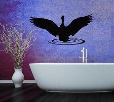 Wall Stickers Vinyl Decal Swan For Bathroom Animal Bird ig1483
