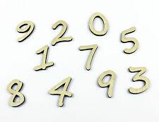 Set of 10 Small Wooden Numbers / DIY / Unpainted / Wedding / Table Numbers