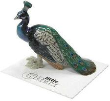 ➸ LITTLE CRITTERZ Bird Miniature Figurine Peacock Shimmer