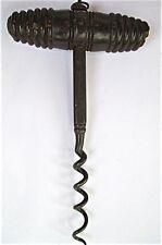 English Rosewood Handle Corkscrew w/ Fancy Square Shank